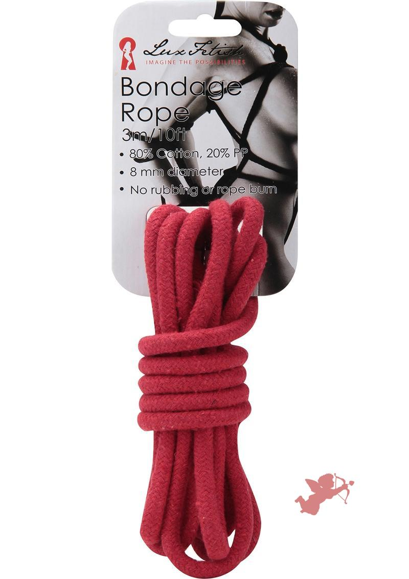 Lux Fetish Bondage Rope Red 10 Feet