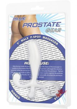 C & B Gear Male P-spot Massager 5 Inch White