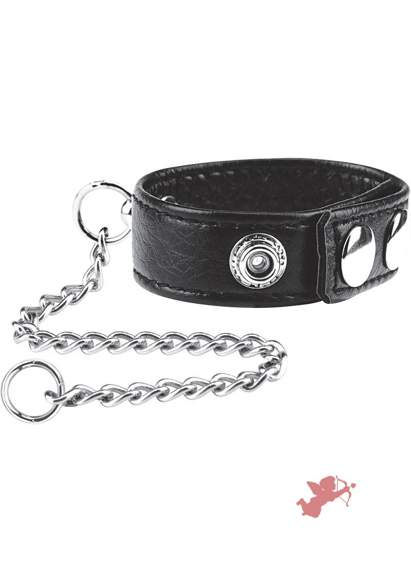 C & B Gear Snap Cock Ring With Leash 12 Inch