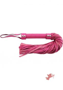 Rouge H Style Handle Leather Flogger Pink