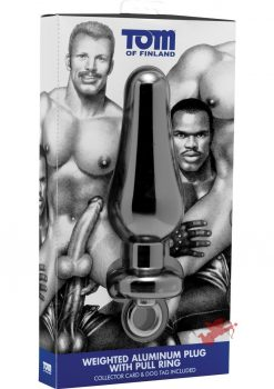 Tom of Finland Weighted Aluminum Plug W/pull Ring