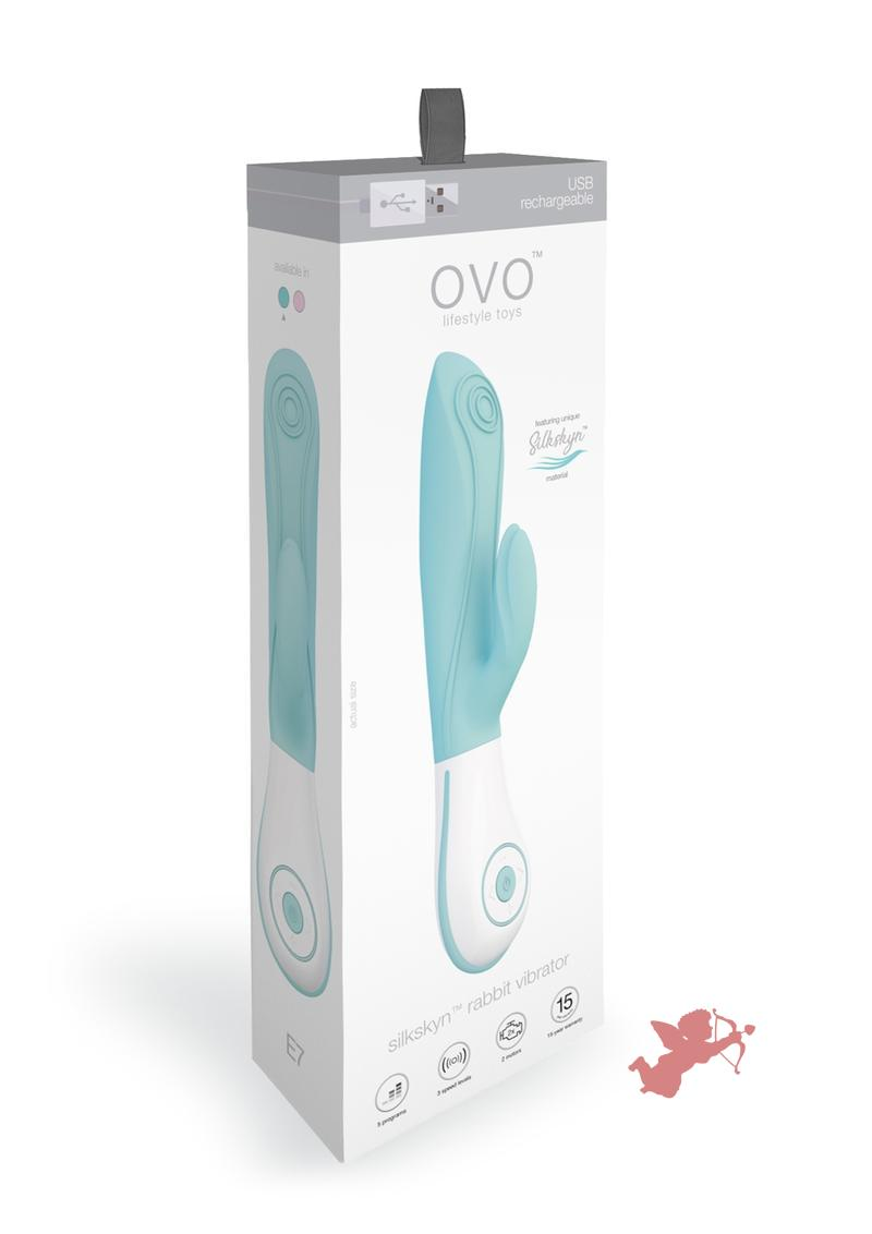Ovo E7 Rechargeable Rabbit Aqua