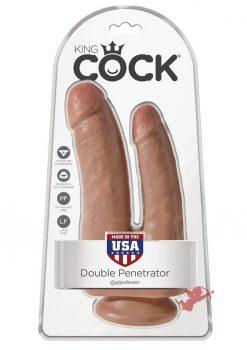 King Cock Double Penetrator - Tan
