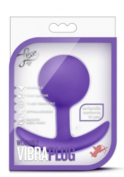 Luxe Wearable VibraPlug Silicone Duo Tone Anal Plug Purple 3.5 Inch