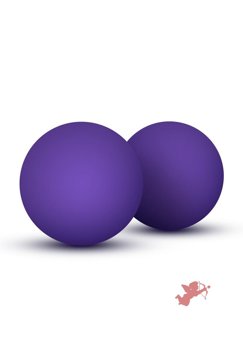 Luxe Double O Kegel Balls Purple Weighted 1.3 Ounce