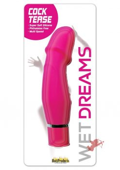 Wet Dreams Cock Tease Mini Silicone Textured Vibrator Waterproof Magenta