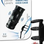 Doctor Loves Zinger Vibrating Cage Black