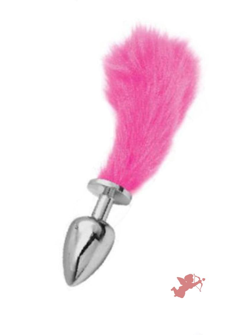 Chloe Small Sliver Plug with Short Pink Tail