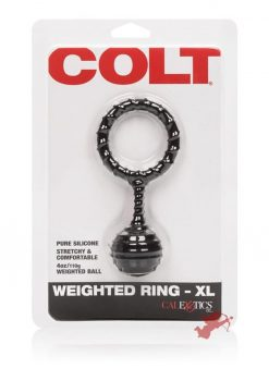 Colt Weighted Ring XL Silicone Black