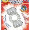 The Best Of Macho Crystal Partners Dual Vibe Pleasure Ring Waterproof Clear