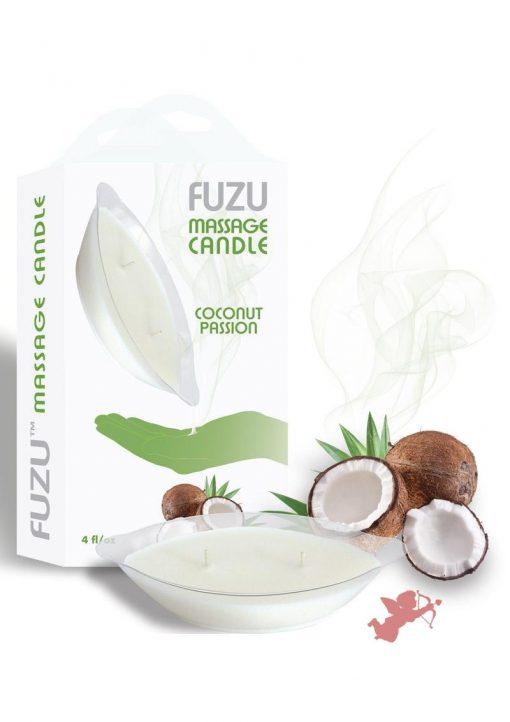 Fuzu Massage Candle Coconut Passion 4 Ounce