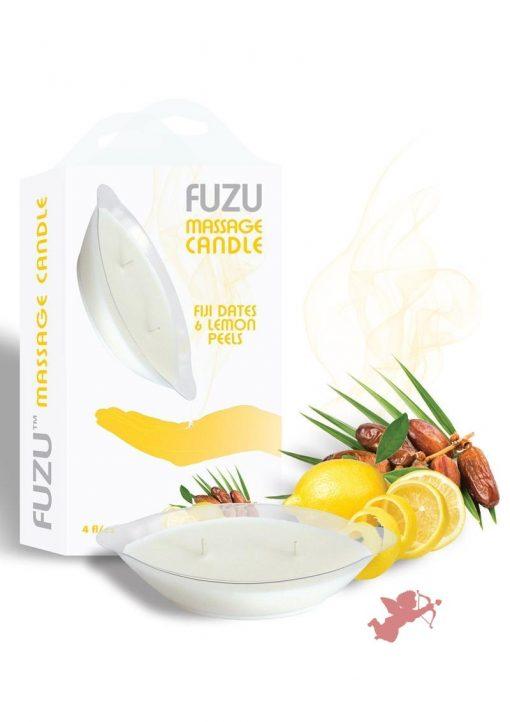 Fuzu Massage Candle Fiji Dates Lemon Passion 4 Ounce