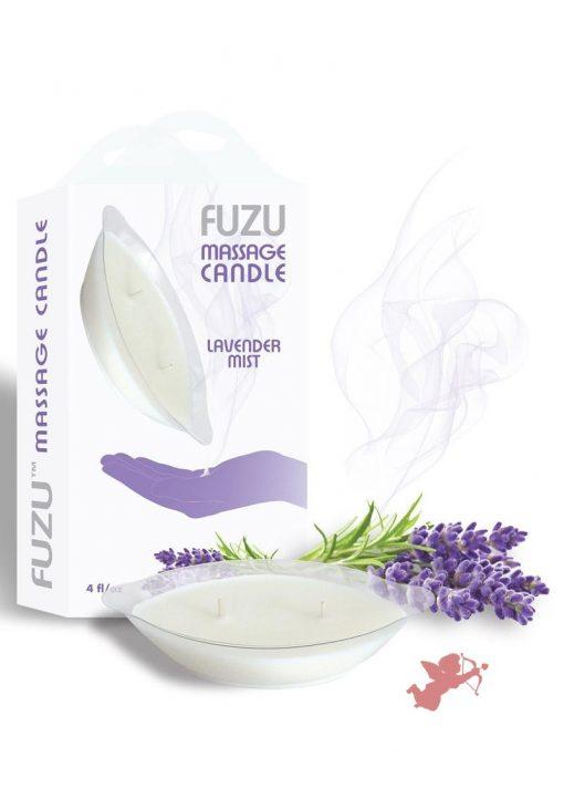 Fuzu Massage Candle Lavender Mist 4 Ounce