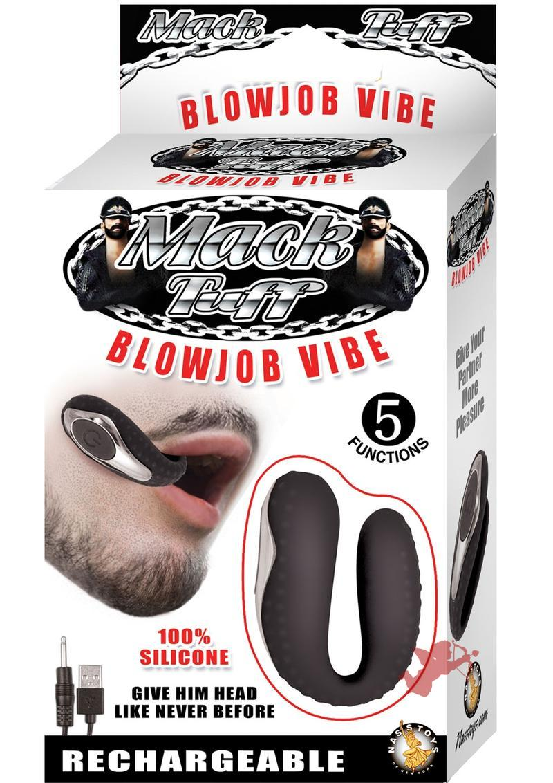 Mack tuff Silicone Blowjob Vibe Waterproof Black