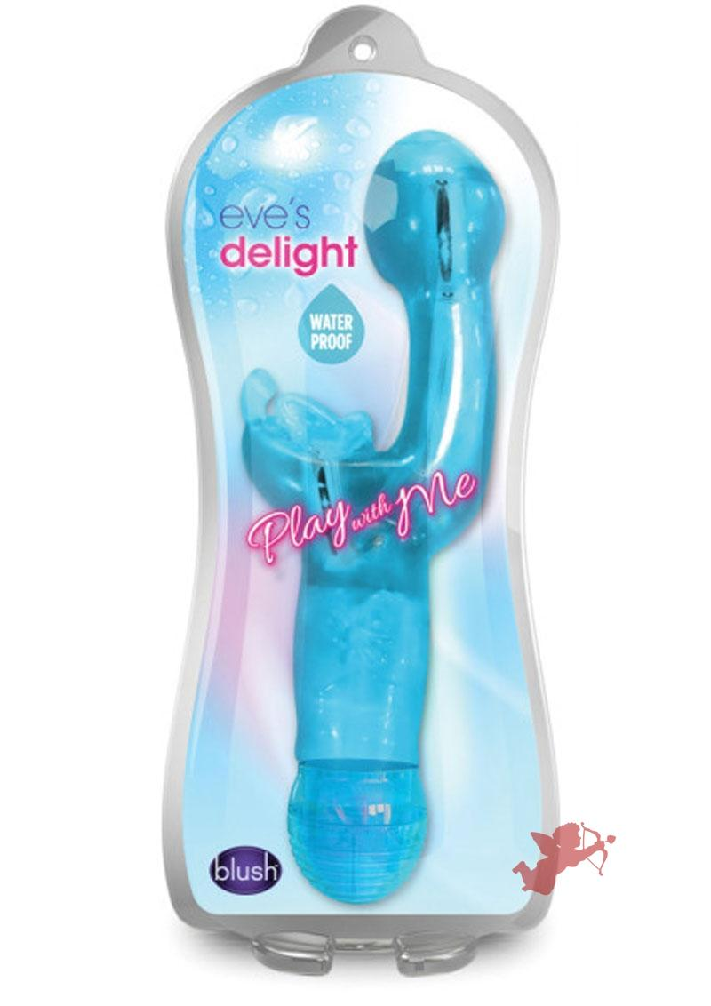 Play With Me Eve's Delight Vibe Waterproof Blue 6.5 Inch