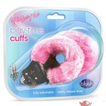 Play With Me Faux Fur Play Time Cuffs Pink 11 Inch
