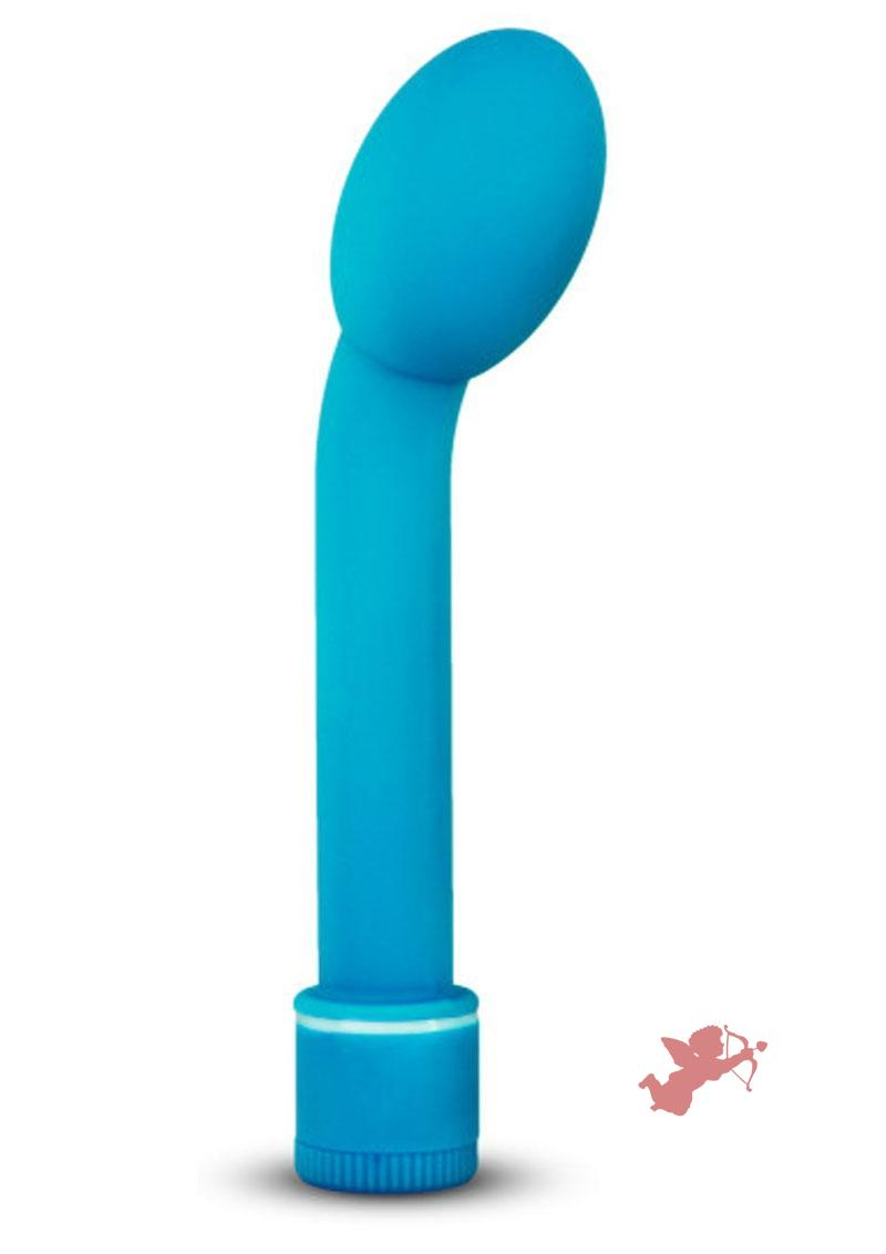 Sexy Things G Slim Petite Satin Touch G-spot Vibrator Waterproof Blue 6.5 Inch