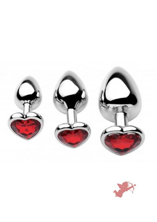 Frisky Chrome Hearts Anal Plugs 3 Piece