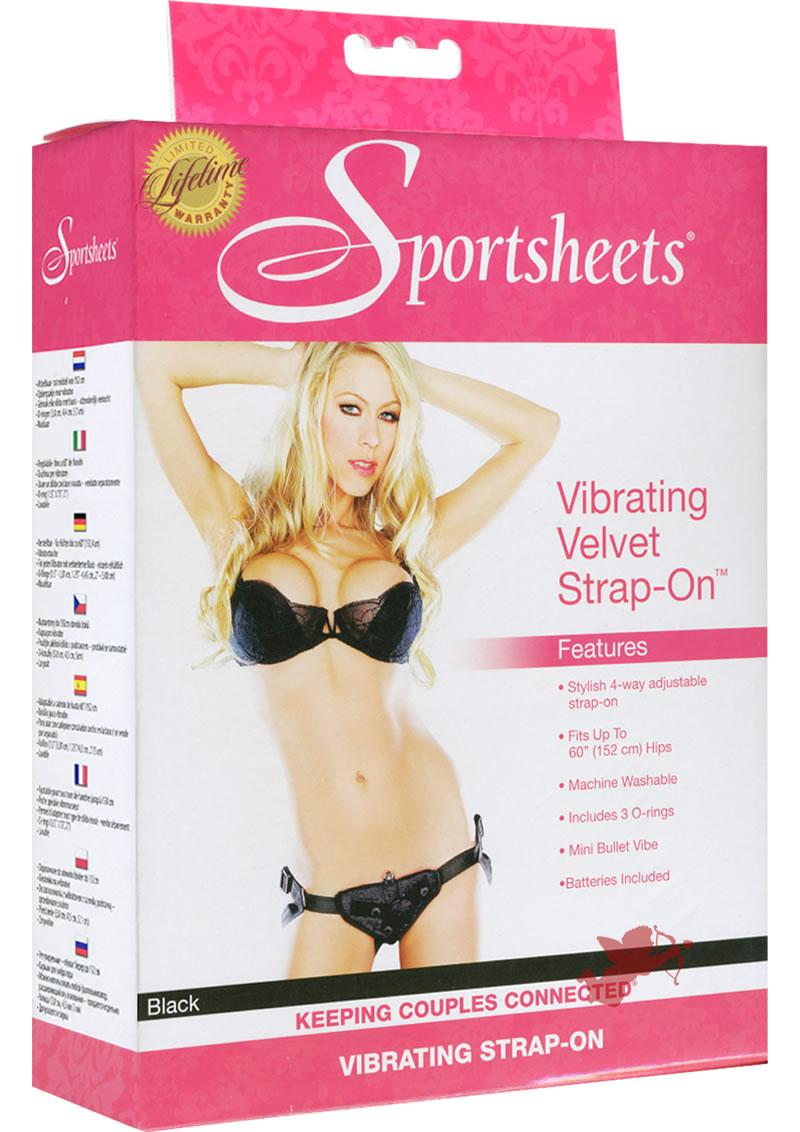 Vibrating Velvet Harness Black