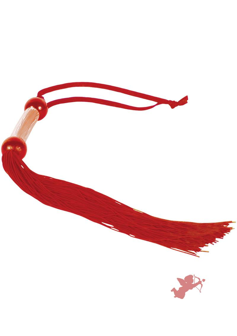 10 Small Rubber Whip - Red