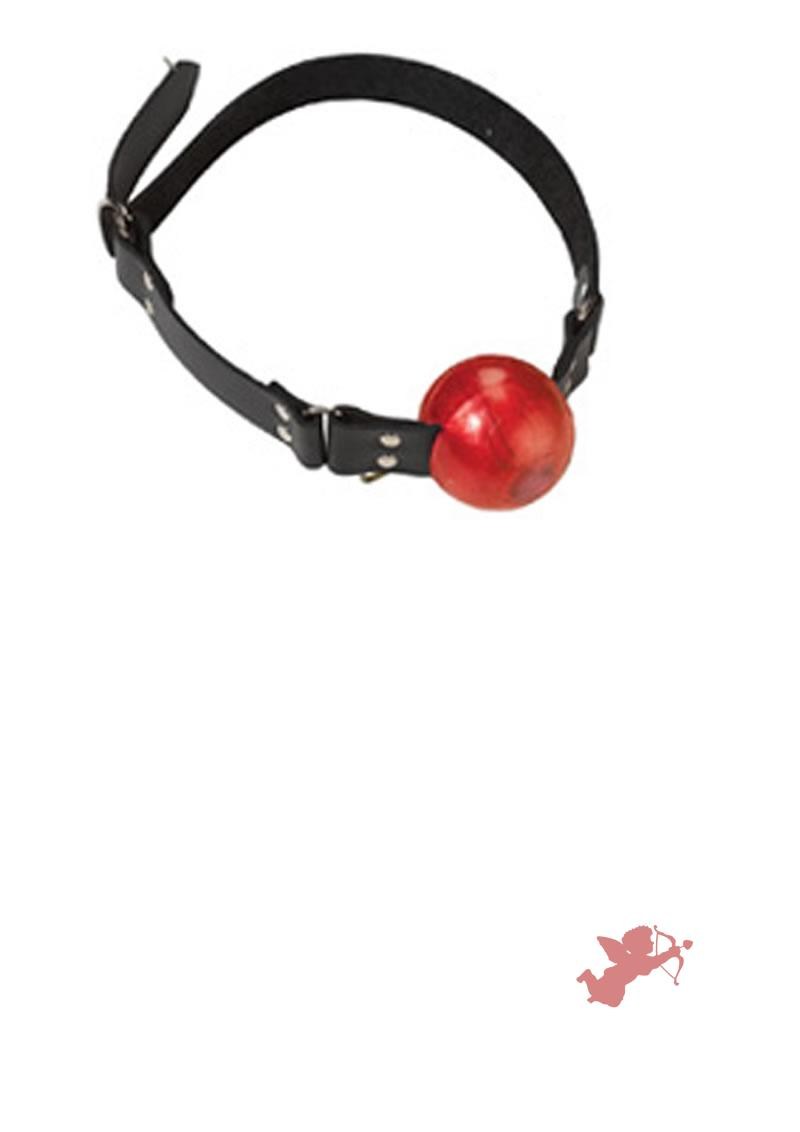 Large Red Ball Gag - D Ring