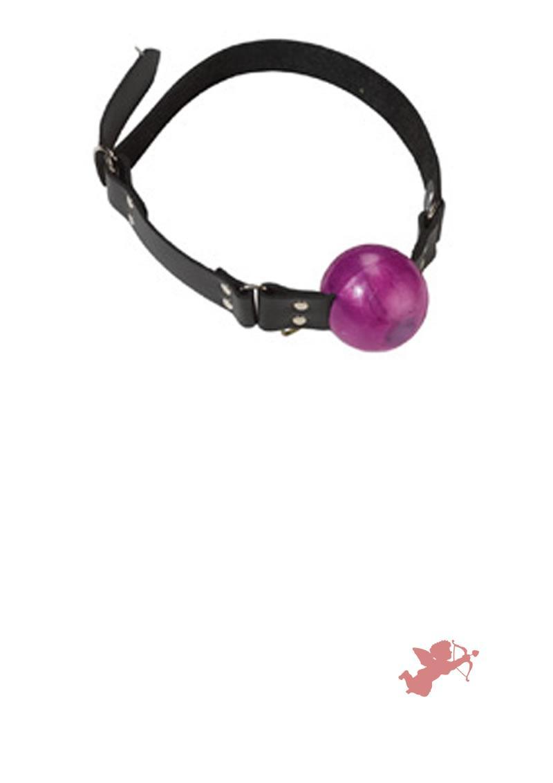Large Purple Ball Gag - D Ring