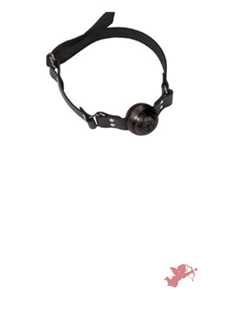 Small Black Ball Gag - D Ring