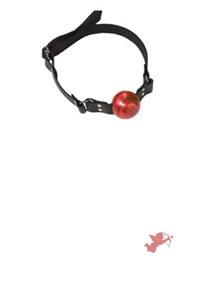 Small Red Ball Gag - D Ring
