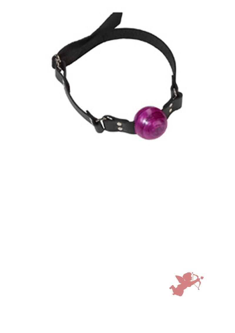 Small Purple Ball Gag - D Ring