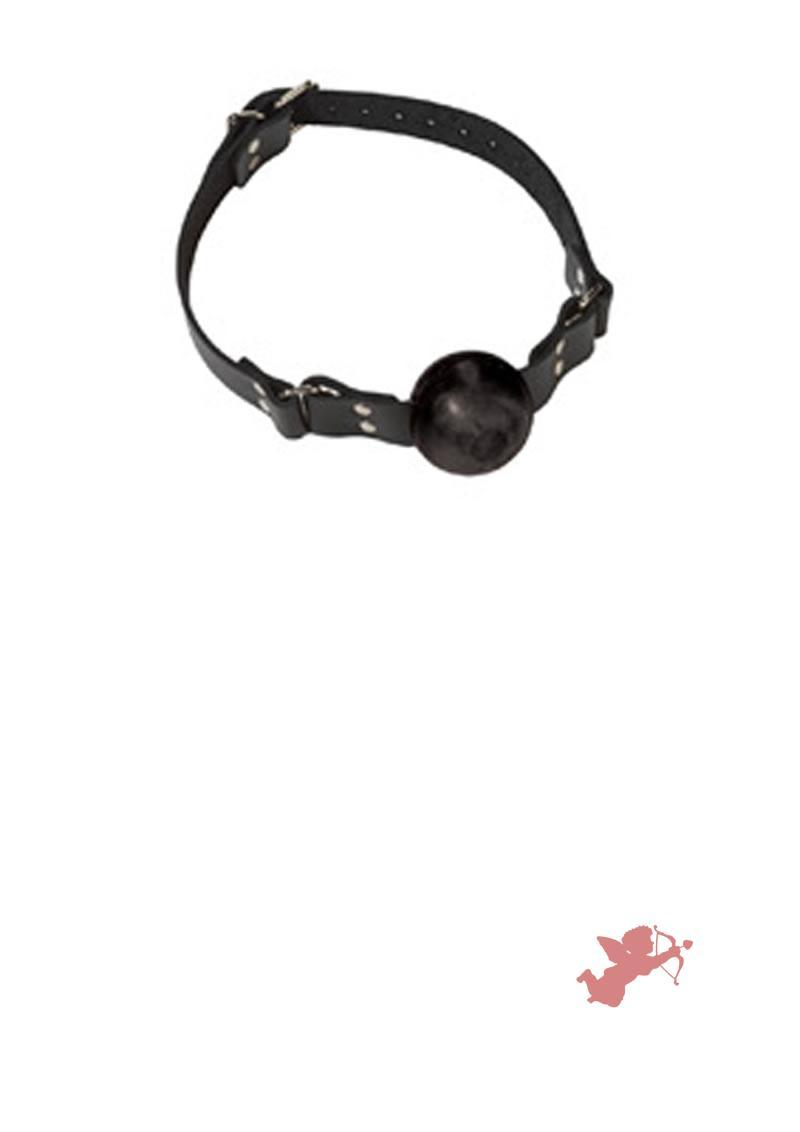 Small Black Ball Gag - Buckle
