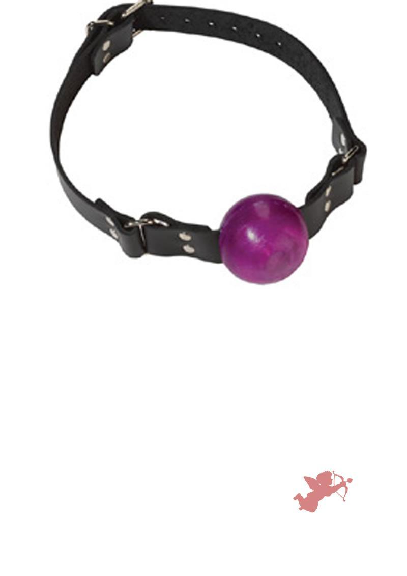 Small Purple Ball Gag - Buckle