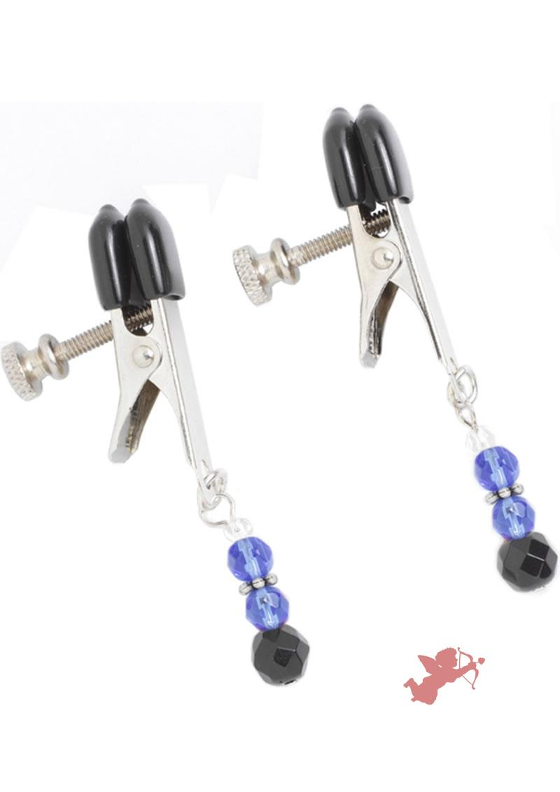 Blue Beaded Clamps - Broad Tip