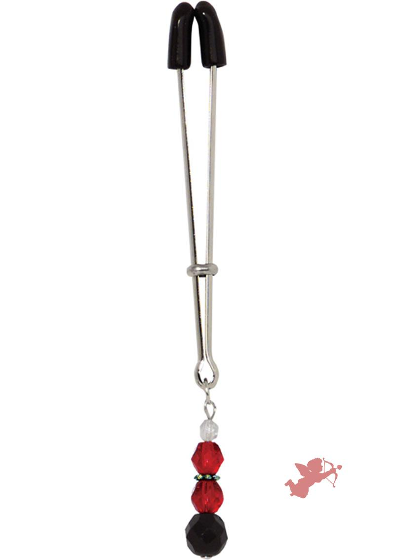 Beaded Clit Clamp - Red