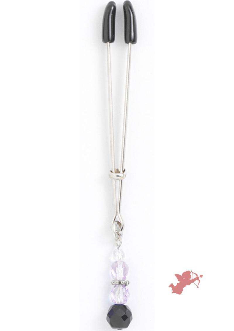 Beaded Clit Clamp - Purple