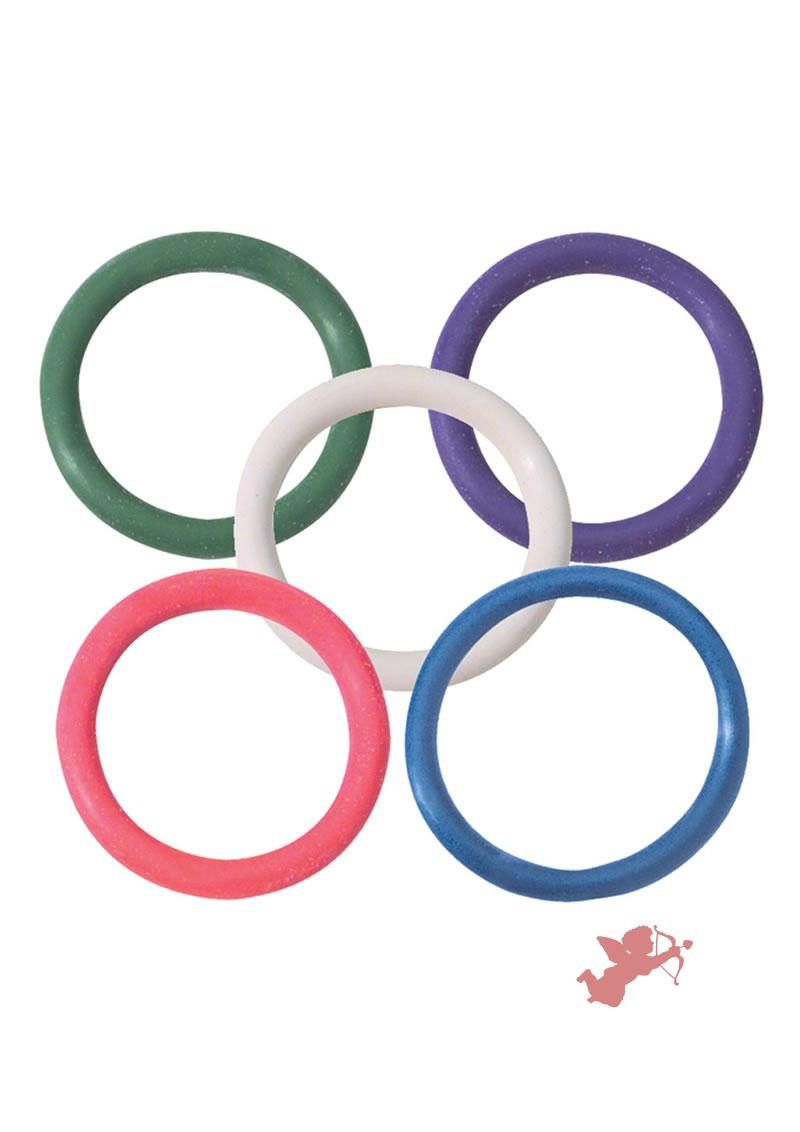 Rainbow Rubber C Ring 5 Pack - 1 1/4