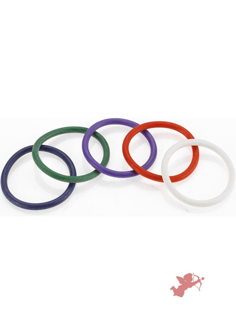 Rainbow Rubber C Ring 5 Pack - 2