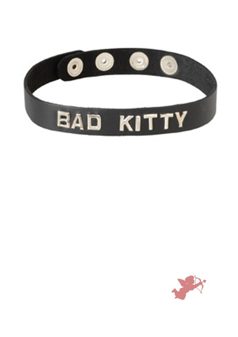 Wordband Collar - Bad Kitty