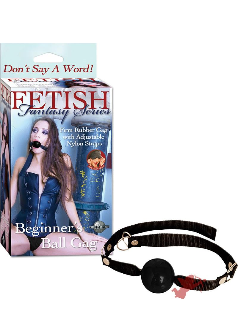 Fetish Fantasy Beginner`s Ball Gag Black