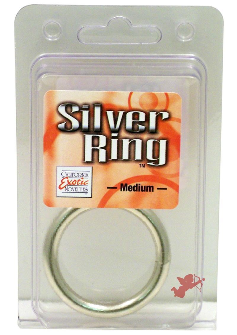 Silver Cock Ring Medium