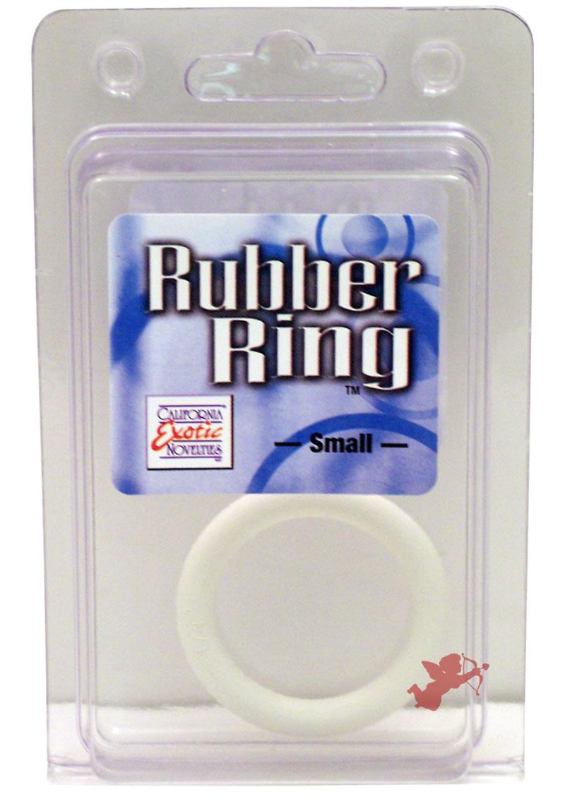 Rubber Cock Ring White Small