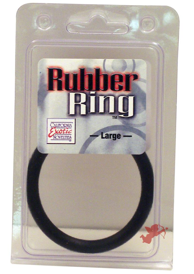 Rubber Cock Ring Black Large