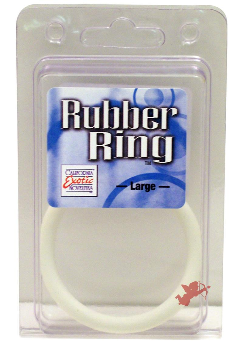 Rubber Cock Ring White Large