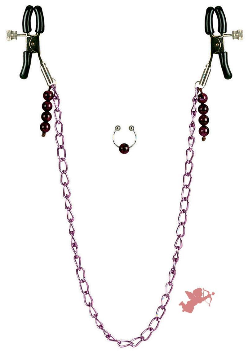 Nipple Clamps - Purple Chain