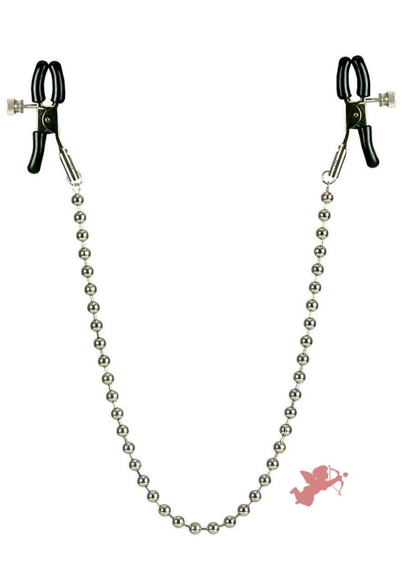 Nipple Clamps - Silver Beaded