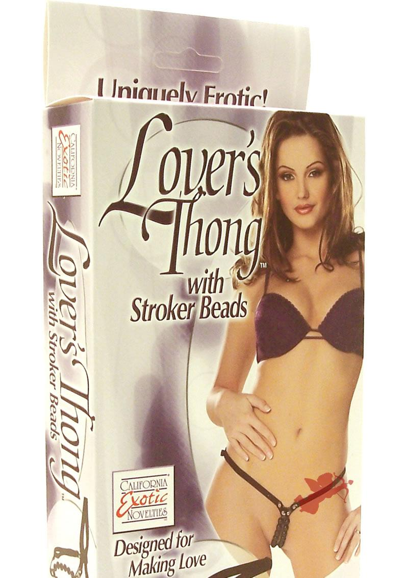 Lover`s Thong W/stroker Beads
