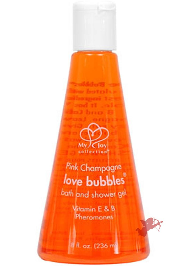 Pink Champagne Love Bubble - Straw