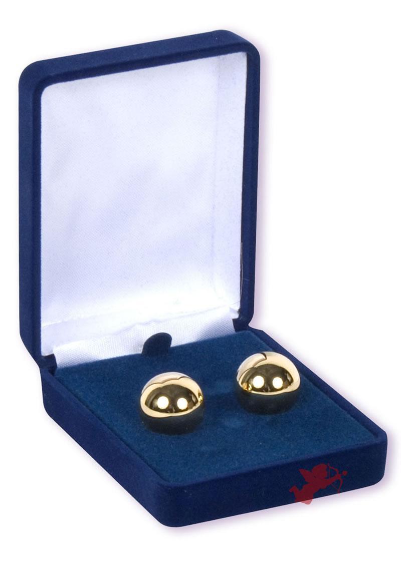 Ben-wa Gold Balls Blue Box