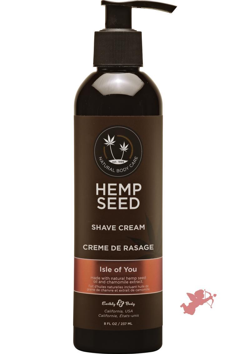 Hemp Seed Shave Cream 100% Vegan Isle Of You 8 Ounce