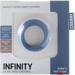 Shots Silicone Infinity Cock Ring Waterproof Blue Extra Large