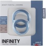 Shots Silicone Infinity Thin Cock Rings Waterproof Medium And Large Blue